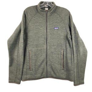 Patagonia Knit Jacket Small Green Zip Front